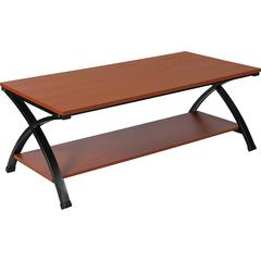 Ringwood Cherry Wood Grain Finish Coffee Table with Black Metal Frame