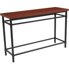 Granada Hills Collection Norway Cherry Inlaid Wood Grain Finish Console Table with Black Metal Legs