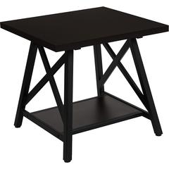 Hancock Park Collection Rustic Espresso Wood Finish Side Table