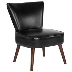 HERCULES Holloway Series Black Leather Retro Chair