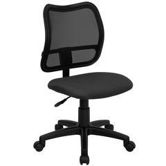 Mid-Back Gray Mesh Swivel Task Chair