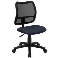 Mid-Back Navy Blue Mesh Swivel Task Chair