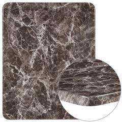"24"" x 30"" Rectangular Gray Marble Laminate Table Top"