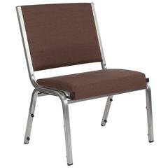 HERCULES Series 1500 lb. Rated Brown Antimicrobial Fabric Bariatric Chair with Silver Vein Frame