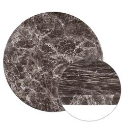 "24"" Round Gray Marble Laminate Table Top"