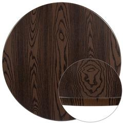 "42"" Round Rustic Wood Laminate Table Top"