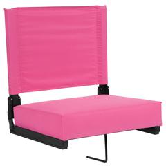 Grandstand Comfort Seats by Flash with Ultra-Padded Seat in Pink