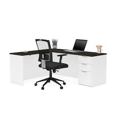 Pro-Concept Plus L-Desk in White & Deep Grey
