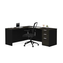 Pro-Concept Plus L-Desk in Deep Grey & Black