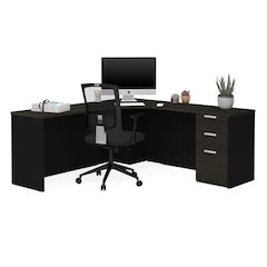Pro-Concept Plus Corner Desk in Deep Grey & Black