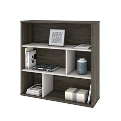 Fom Asymmetrical Shelving Unit in Walnut Grey & Sandstone