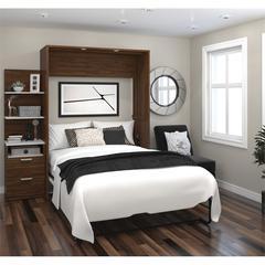 "Elite 79"" Full Wall Bed kit in Oak Barrel and White"
