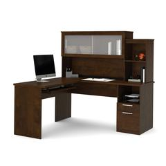 Dayton L-Shaped desk in Chocolate