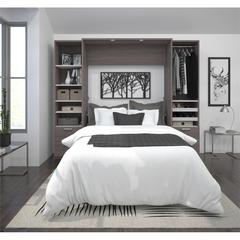 """Premium 98"""" Full Wall Bed kit in Bark Gray and White"""