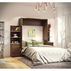 """Deluxe 104"""" Queen Wall Bed kit in Oak Barrel and White"""