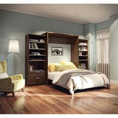 """Premium 124"""" Queen Wall Bed kit in Oak Barrel and White"""