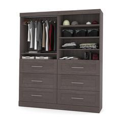 """72"""" Storage kit in Bark Gray"""
