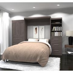 """126"""" Queen Wall bed kit in Bark Gray"""