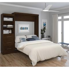 """90"""" Queen Wall bed kit in Chocolate"""