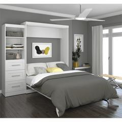 """90"""" Queen Wall bed kit in White"""