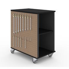 Bestar Lincoln Mobile Storage Cabinet in Black & Graphite