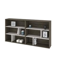 Fom 2-Piece Asymmetrical Shelving Unit Set in Walnut Grey & Sandstone