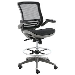 Evolve™ All Mesh Heavy Duty Drafting Chair - Gunmetal Finish