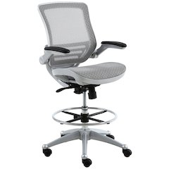 Evolve™ All Mesh Heavy Duty Drafting Chair - Platinum Finish