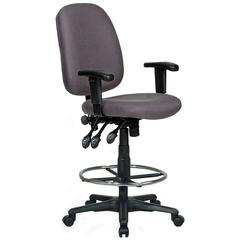 Extra Tall Ergonomic Drafting Chair - Gray