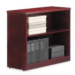Alera Verona Veneer Series Bookcase, Two-Shelf, 35-1/2w x 14d x 29-1/2h, Mahogany