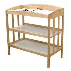 Wood Changing Table with Two Storage Shelves