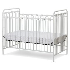 Napa 3 in 1 Convertible Full Sized Metal Crib in Alabaster White