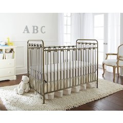 Napa 3 in 1 Convertible Full Sized Metal Crib in Golden Nugget