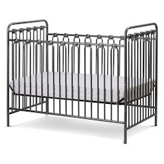 Napa 3 in 1 Convertible Full Sized Metal Crib in Pebble Grey