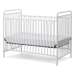 Trinity 3 in 1 Convertible Full Sized Metal Crib in Alabaster White