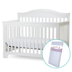 Solano Beach 4 in I Convertible Crib/Foam Mattress in White