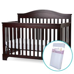Solano Beach 4 in I Convertible Crib/Innerspring Mattress in Cherry