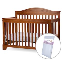 Solano Beach 4 in I Convertible  Crib/Innerspring Mattress in Pecan
