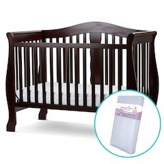 Avalon 4 in I Convertible Crib/Foam Mattress in Cherry