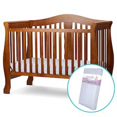 Avalon 4 in I Convertible Crib/Foam Mattress in Pecan