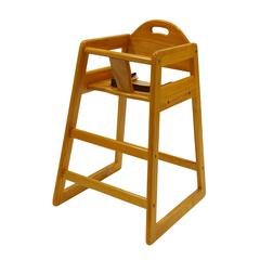 Solid Wood High Chair, Natural