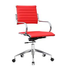 Flees Office Chair Mid Back, Red