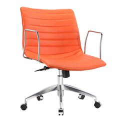 Comfy Office Chair Mid Back, Orange