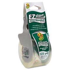 """Duck E-Z Start Premium Packaging Tape w/Dispenser, 1.88"""" x 55.5yds"""