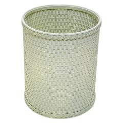 Chelsea Collection Decorator Color Round Wicker Wastebasket, Herbal Green