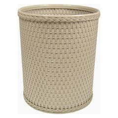 Chelsea Collection Decorator Color Round Wicker Wastebasket, Mocha