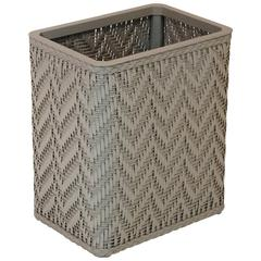 Elegante Collection Decorator Color Wicker Wastebasket, Mocha