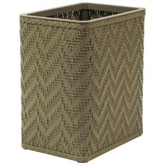 Elegante Collection Decorator Color Wicker Wastebasket, Sage Green