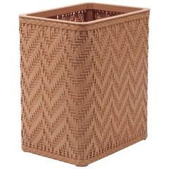 Elegante Collection Decorator Color Wicker Wastebasket, Tea Rose