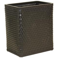 Chelsea Collection Decorator Color Square Wicker Wastebasket, ESPRESSO